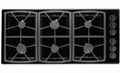 "SGM466BLP Dacor Classic 46"" Cooktop All-Gas 6 Burner Cooktop - Black, Liquid Propane"