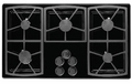 "SGM365BLP Dacor Classic 36"" 5 Burner Gas Cooktop - Black, Liquid Propane"