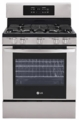 "LRG3091ST LG 30"" 5.4 Cu. Ft. Freestanding Gas Range - Stainless Steel"
