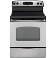 "JB620SRSS GE� 30"" Free-Standing CleanDesign� Electric Range - Stainless Steel"