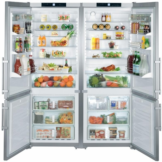 "SBS32S1 Liebherr 60"" Freestanding Cabinet Depth Refrigerator Freezer Combination - Stainless Steel"