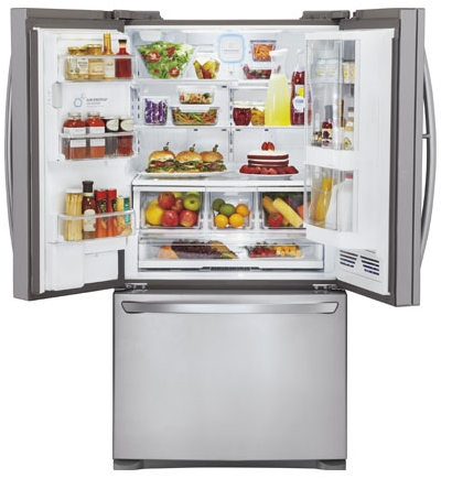LFX31945ST LG Super Capacity 3 Door French Door Refrigerator with Door In Door - Stainless Steel