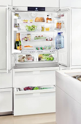 "HCB2062 Liebherr 36"" Premium Plus Fully Integrated BioFresh French Door Refrigerator with Icemaker - Custom Panel"