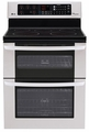 LDE3035ST LG 6.7 Cu. Ft. Capacity Electric Double Oven Range with SuperBoil Burner and EasyClean - Stainless Steel