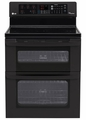 LDE3035SB LG 6.7 Cu. Ft. Capacity Electric Double Oven Range with SuperBoil Burner and EasyClean - Black