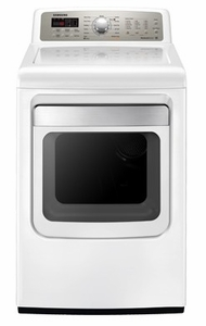 DV484ETHAWR Samsung 7.4 cu. ft. King-Size Capacity Electric Front Load Dryer - White