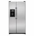 GSH25JSDSS GE Energy Star 25.3 Cu. Ft. Side by Side Refrigerator with Dispenser & Advanced Filtration - Stainless Steel