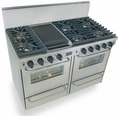 "TTN531-7BW Five Star 48"" Pro Style Gas Convection Range with Sealed Burners - Natural Gas - Stainless Steel"