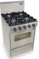 "TTN480-7BW Five Star 24"" Pro Style Natural Gas Convection Range - Open Burner - Stainless Steel"