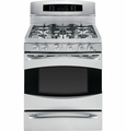 "PGB935SETSS GE Profile 30"" Free Standing Self Clean Gas Range with Baking Drawer - Stainless Steel"