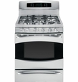 "PGB980SETSS GE Profile 30"" Free Standing Self Clean Gas Range with Baking Drawer - Stainless Steel"