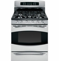 "PGB930SETSS GE Profile 30"" Free-Standing Self Clean Gas Range with Baking Drawer - Stainless Steel"