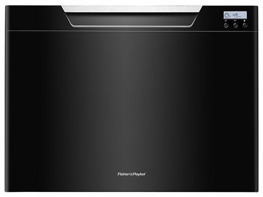DD24SCTB7 Fisher & Paykel Single Tall DishDrawer with Recessed Handle - Black