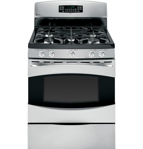 "PGB910SETS GE Profile 30"" Free Standing Self Clean Gas Range - Stainless Steel"