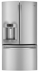 PFE27KSDSS GE Profile ENERGY STAR 27 Cu. Ft. French-Door Ice & Water Refrigerator - Stainless Steel