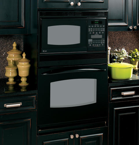 """PT970DRBB GE Profile 30"""" Built-In Double Microwave/Convection Oven - Black"""