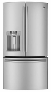 GFE27GSDSS GE 27 Cu. Ft. French-Door Ice & Water Refrigerator - Stainless Steel