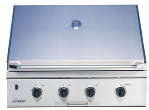"""OBS36LP Dacor Discovery 36"""" Built In Outdoor Grill with Sear Burner - LP Gas - Stainless Steel"""