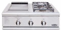 "BFG-30BGD-L DCS 30"" Liberty Outdoor Grill Side Burner & Griddle Unit - Liquid Propane - Stainless Steel"