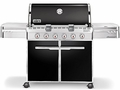 7321001 Weber Summit E-620 Outdoor Gas Grill - Liquid Propane - Black