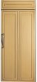 "ZIR360NXLH GE Monogram 36"" Energy Star Built-In All Refrigerator - Left Hinged - Custom Panel"
