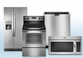 Package 7 - Whirlpool Builder's Special Package - 4 Piece Appliance Package - Stainless Steel - Electric