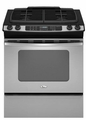 "GW399LXUS Whirlpool Gold� 30"" Slide-In Gas Range - Stainless Steel"
