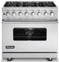 "VGSC536-6B Viking 36"" Sealed Burner Self-Cleaning Gas Range with 6 Burners - Stainless Steel"