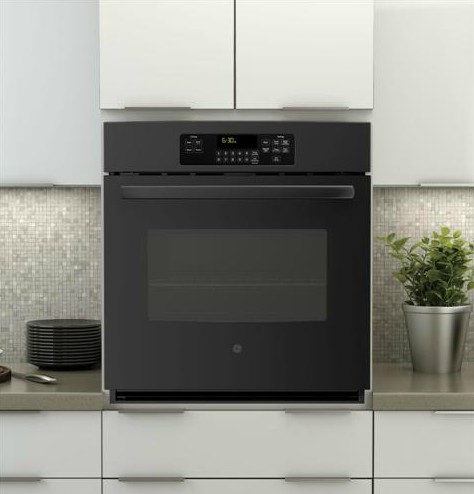 "JK3000DFBB GE 27"" Built-In Single Wall Oven - Black"