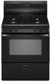 "AGR4433XDB Amana 30""  Freestanding Gas Range with Sealed Burners - Black"