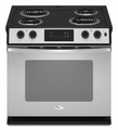 "WDE150LVS Whirlpool 30"" Self-Cleaning Drop-In Electric Coil Range - Stainless Steel"