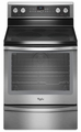 WFE720H0AS Whirlpool 6.2 cu. ft. Capacity Electric Range with Rapid Preheat - Stainless Steel