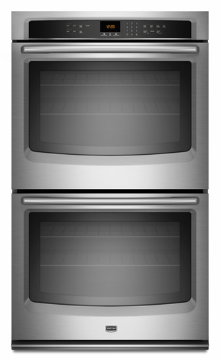 MEW7627AS Maytag 27-inch Electric Double Wall Oven with Precision Cooking System - Stainless Steel