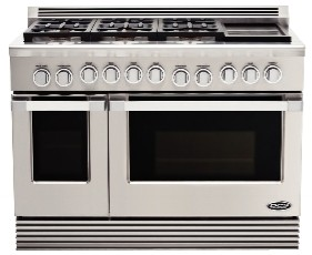 "RGU486GDL DCS 48"" Professional 6 Burner Liquid Propane Gas Range with Griddle - Stainless Steel"