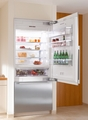 "KF1901SF Miele Energy Star 36"" Bottom Mount Fully Integrated Refrigerator/Freezer Right Hinged - Stainless Steel"