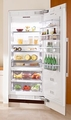"K1911SF Miele Energy Star 36"" Fully Integrated All Refrigerator Left Hinged - Stainless Steel"