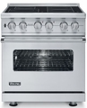 "VISC530-4BSS Viking 30"" Electric Induction Self-Clean Freestanding Range - Stainless Steel"