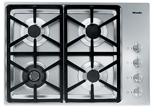 "KM3464G Miele 3000 Series 30"" Natural Gas Cooktop with Hexa Grates - Stainless Steel"