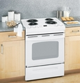 "JSS28DNWW GE� 30"" Slide-In Electric Range with Standard Clean Oven - White"