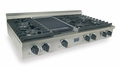 TTN047-7 Five Star 48'' Natural Gas Pro Cooktop with 6 Sealed Burners & Reversible Grill/Griddle - Stainless Steel