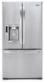 LFX28991ST LG Ultra-Capacity 3 Door French Door Refrigerator with Smart Cooling - Stainless Steel