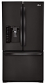 LFX31925SB LG 31 cu. ft. Super Capacity French Door Refrigerator - Black