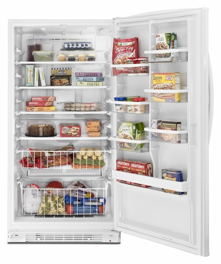 EV201NZTQ Whirlpool ENERGY STAR Qualified  20 cu. ft. Frost-Free Upright Freezer - White-on-White