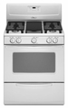 Whirlpool Gas Ranges WHITE