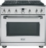"ZDP366NPSS GE Monogram� 36"" Dual-Fuel Pro Style Range with 6 Burners - Natural Gas - Stainless Steel"