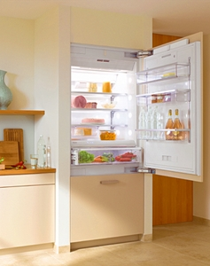 "KF1913Vi Miele Energy Star 36"" Bottom Mount Fully Integrated Refrigerator/Freezer Left Hinged - Custom Panel"