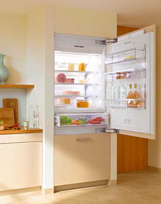 "KF1911Vi Miele Energy Star 36"" Bottom Mount Fully Integrated Refrigerator/Freezer Left Hinged - Custom Panel"