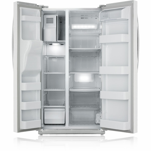 RS261MDWP Samsung Side by Side Refrigerator Ice and Water Dispenser - White