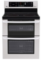 "LDE3031ST  LG 6.7 Cu. Ft. Capacity Electric Double Oven Range with a 6"" High Upper Oven and EasyClean - Stainless Steel"