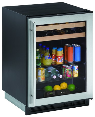 1175BEVS-00 U-Line 1000 Series Undercounter Beverage Center - Stainless Steel